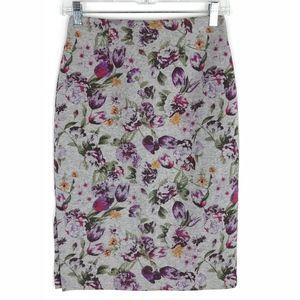 Halogen High Waist Pencil Floral Skirt #2084